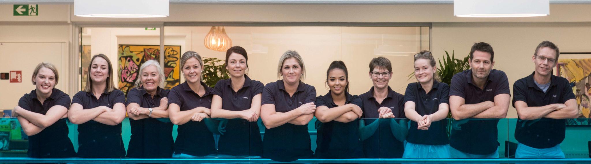 Personalet hos tandlægerne sundhedshuset Svendborg